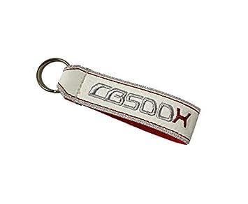 Moto Discovery CB500X cordón Llavero Doble Cara Blanco ...