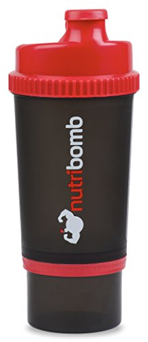 Price comparison product image Nutribomb 3 in 1 Shaker Bottle,  Supplement Shaker Cup,  Pre-workout Shaker,  Creatine Shaker,  Protein Shaker Bottle