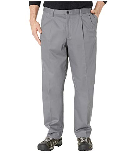Dockers Men's Big & Tall Classic Fit Signature Khaki Lux Cotton Stretch Pants - Pleated Burma Grey 58 30