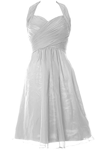 Senza Vestito MACloth White linea maniche a ad Donna qS6pFw86
