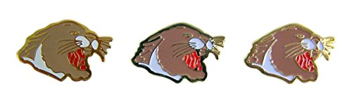 Cougar School Mascot Gold Toned with Enamel Lapel Pin, Pack of 3