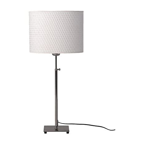 Ikea 500.291.62 Alang Table Lamp, Nickel Plated White
