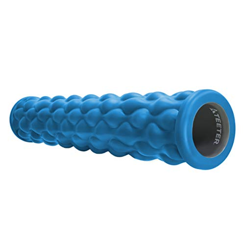 Teeter Massage Foam Roller - Deep Tissue Muscle Relief to Boost Recovery, Flexibility - 13 or 26 inch, 2 Textures/densities - Back Pain Relief, Sports Massage, Myofascial Release