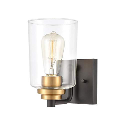 Elk Lighting 46610/1 Vanity Light, Matte Black, Brushed Brass ()