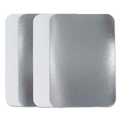 (Durable Packaging Board Lid for Aluminum Oblong Pan, 1-1/2 lb (Pack of 500) )