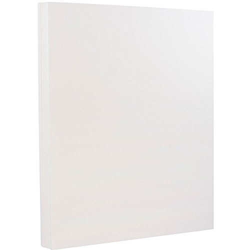 JAM PAPER Extra Heavy Weight 130lb Cardstock - 8.5 x 11 Letter Coverstock - Bright White Wove Strathmore - 25 ()