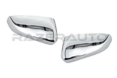 Razer Auto CHROME MIRROR COVER REPLACEMENT TYPE for 2010-2014 FORD MUSTANG (Mustang Mirror Covers)