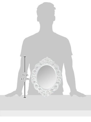 Kole White Oval Vintage Wall Mirror by Kole (Image #3)