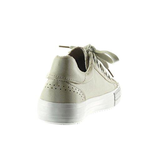 Baskets Talon Plat Etoile cm Perforée 2 Chaussure Femme 5 Angkorly Mode BqwE114