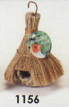 Prevue Pet Products BPV1156 Natural Fiber Finch Covered Tiki Hut for Birds, My Pet Supplies