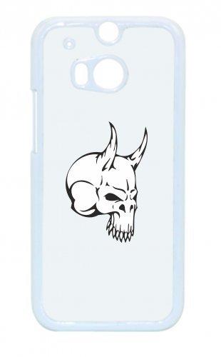"""Smartphone Case Apple IPhone 4/ 4S """"Totenkopf mit Hörnern spitz Skelett Rocker Motorradclub Gothic Biker Skull Emo Old School"""" Spass- Kult- Motiv Geschenkidee Ostern Weihnachten"""