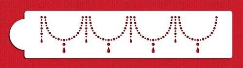Pearl Necklace Cake Stencil by Designer Stencils