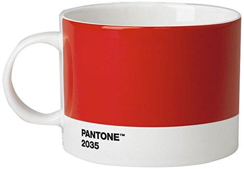 Pantone Taza de té de Porcelana, 475 ml, Porcelana, Red 2035 ...