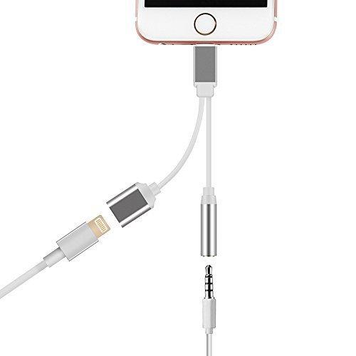 Lightning Adapter for iphone 7 / 7 Plus, Lightning to 3.5mm Headphone Jack Adapter and Charger