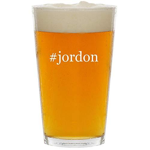 #jordon - Glass Hashtag 16oz Beer Pint