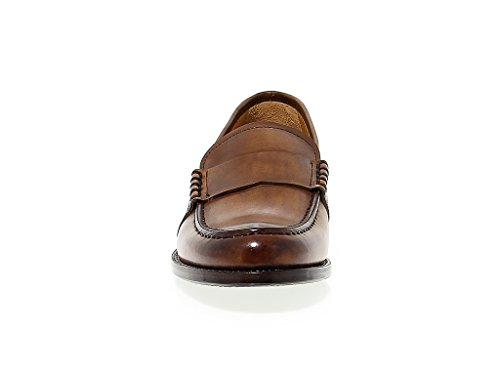 Uomini Fabi 7310brown Mocassini In Pelle Marrone