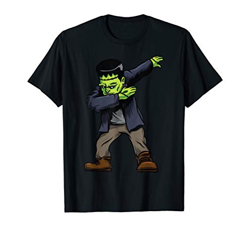 Dabbing Frankenstein Shirt Halloween Kids Monster Zombie -