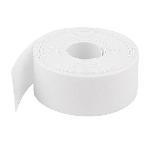 Uxcell PVC Heat Shrink Tubing Wrap for 1 x AA Battery, 5 m, 23 mm x 14 mm, 48% (16' Flat Pack)