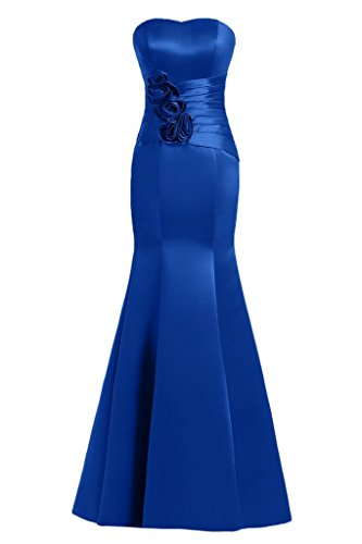 Sunvary Mermaid Sweetheart fiori in raso per abiti da sera Gowns sera, azul real, 24W