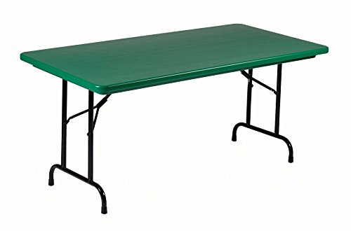 Correll R2448 23 R Series, Blow Molded Plastic Commercial Duty Folding Table, Rectangular, 24 x 48 , Gray Granite, Custom Built to Order in The USA