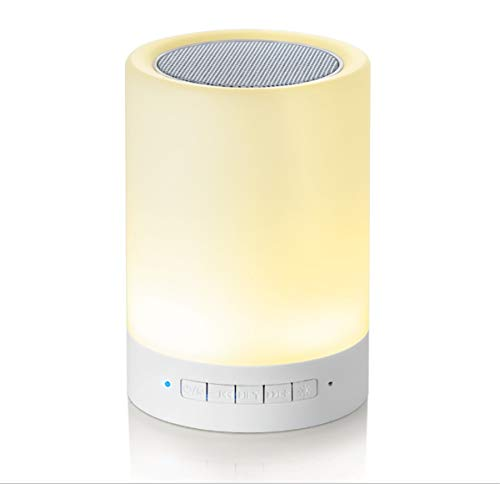 Price comparison product image Night Light Bluetooth Speaker,  Portable Wireless Bluetooth Speakers,  Touch Control,  Color LED Speaker,  Bedside Table Light,  Speakerphone / TF Card / AUX-in Supported X1