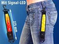 infactory LED-Sicherheits-Reflektor mit Karabinerhaken