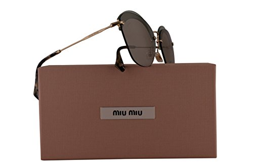 Miu Miu MU53SS Sunglasses Transparent Green w/Light Brown Lens 63mm VX15J2 SMU 53S SMU53S MU - New Sunglasses Miu Miu