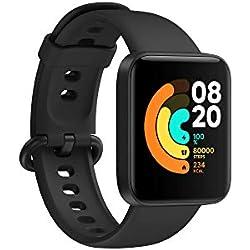 Xiaomi Reloj Inteligente Mi Watch Lite, GPS, Control frecuencia cardíaca, 11 Modelos de Entrenamiento, Color Negro