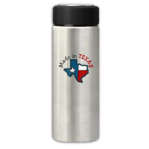 Don't Mess with Texas State Longhorn Star Business Scrub Thermos Cup Stainless Steel Vacuum Thermos Flask Keeps 18 Hours Hot 13 Oz - Steel Longhorns Texas Stainless Thermos