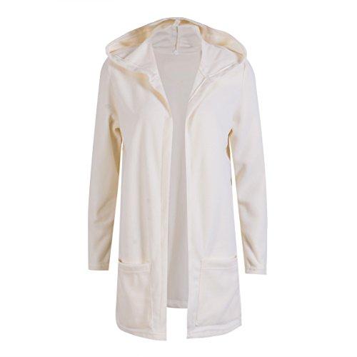 diconna 人気 ファッション カジュアル 女性 カーディガン コート ロング 無地 フード付き フリース シンプル ポケット付き 春秋 3色4サイズ