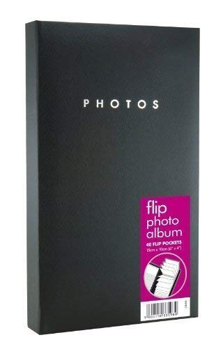 BLACK PHOTO FLIP ALBUM 40 POCKETS HOLDS 80 6