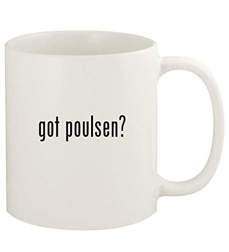 got poulsen? - 11oz Ceramic White Coffee Mug Cup, White ()