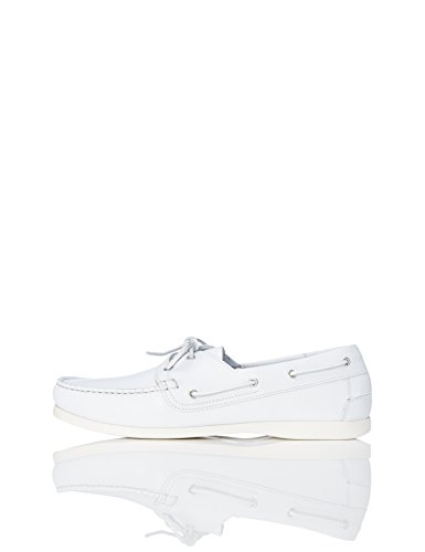 Amazon Brand - find. Men's Boat Shoes,white (White White),US 10 (Best Boat Shoes Uk)
