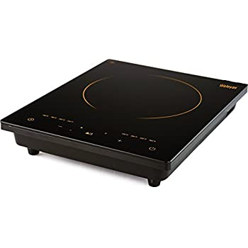 Attractive Weleyas Portable 1800W Gold Energy Efficiency Electric Induction Cooktop  Countertop Single Burner With Power, Temperature