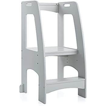 Amazon Com Guidecraft Kitchen Helper Tower Step Up Gray