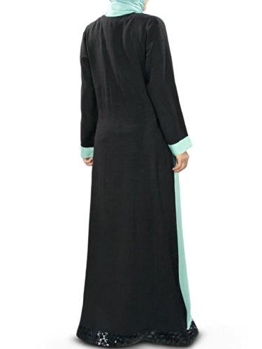 MyBatua Blue Frauen islamische amp; in Black Rayon Abaya Sameen Kleidung zrzqHwxn