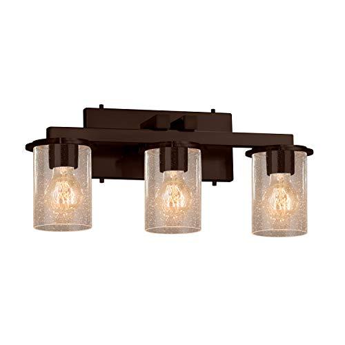 Justice Design Group Lighting FSN-8773-10-SEED-DBRZ Dakota Bath Bar, Dark Bronze