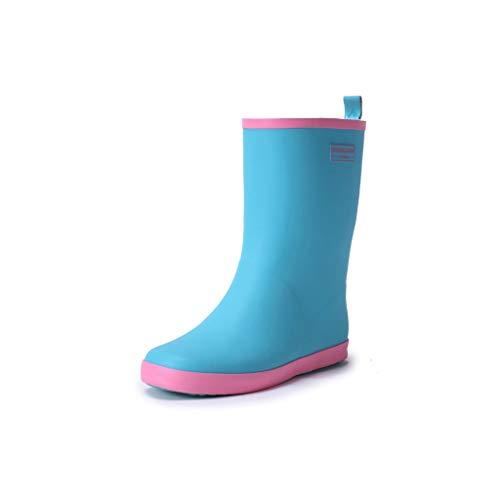 Mujer Azul Lluvia Color Zapatos Ligero Cómodas Agua De Botas El Para Candy HPSwqx6Eq