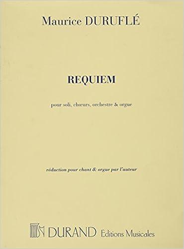 Requiem Opus 9: Maurice Durufle: 9990050226516: Amazon com