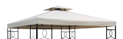 Gazebo Replacement Canopy with PVC Coating, Waterproof, 3 x 3m, 270g/m², Polyester Spetebo