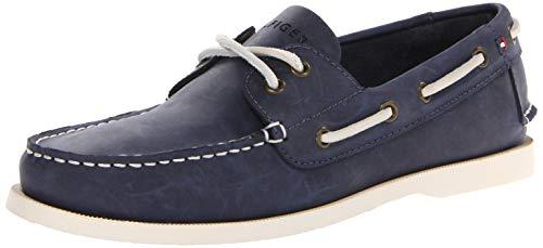 Tommy Hilfiger Men's Bowman Boat shoe, Navy, 13 M US