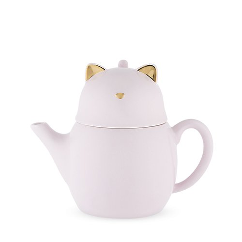 Pinky Up 6076 Purrrcy Cat Tea For One Set, Purple ()