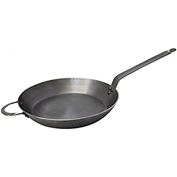 MINERAL B Round Carbon Steel Fry Pan 12.5-Inch