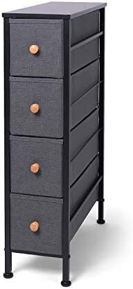 related image of Romoon Narrow Closet Organizer, 4 Drawer Fabric