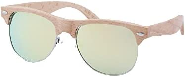 Sunnies SW1209-1BSP1 Summer Sunglasses with Bamboo Temple Black Frame Arms and Smoke Polarized Lens RetailSource