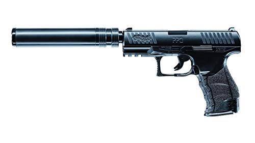 Umarex Walther PPQ Navy BK Spring + Chargeur supp. + Silencieux 0.5J Adulte Unisexe, Noir, Taille unique 1