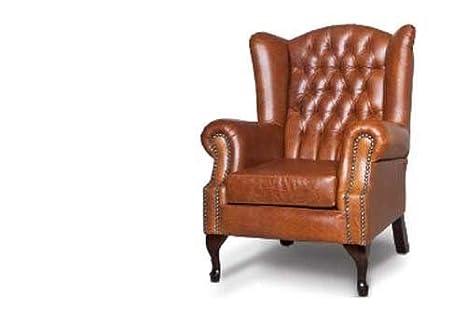 Designer Sofas4u Chesterfield Mallory Poltrona con schienale alto ...