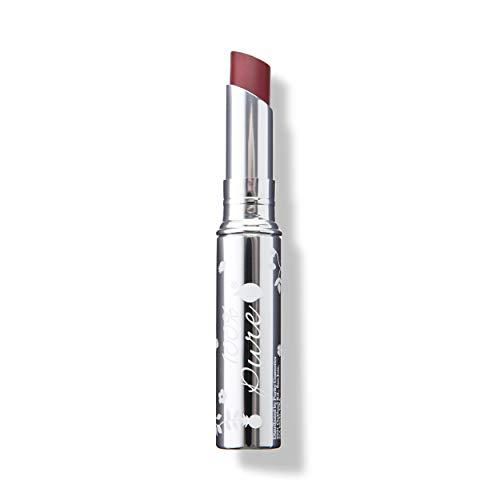100% PURE Lip Glaze, Lychee, Tinted Lip Balm, With Cocoa Butter, Vitamin E, Lip Moisturizer, Natural Lip Balm (Medium Pinky Brown Color) - 0.088 oz