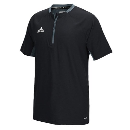 (adidas Mens Fielder's Choice Cage Jacket, Black/Onix Grey, Large)