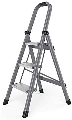 HANHANGYUANDA Escalera-Multi-Propósito Escalas Escalera De Aleación De Aluminio Hogar Plegable Escalera Engrosamiento Interior Escaleras Escaleras Pequeñas,Gray,48 * 59.5 * 113Cm: Amazon.es: Hogar